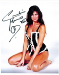 "Caroline Munro signed 10 x 8 star of ""Dracula"", Sinbad, Bond #5"